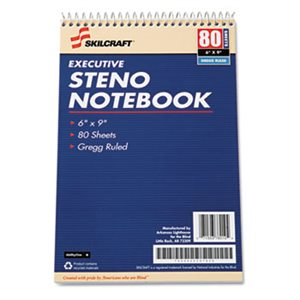 "NOTEBOOK, EXECUTIVE STENO, 6"" x 9"", ABILITYONE"