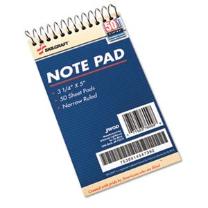 7530014547392 Notepad, Narrow Rule, 3-1 / 4 x 5-1 / 2, White, 50 Sheets, 1 Dozen