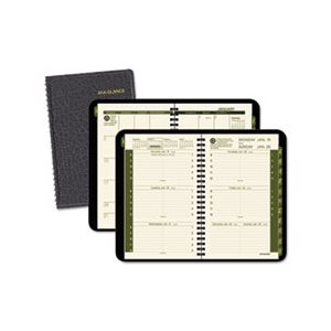 "APPOINTMENT BOOK, WEEKLY / MONTHLY, 4.875 x 8"", BLACK 2020"