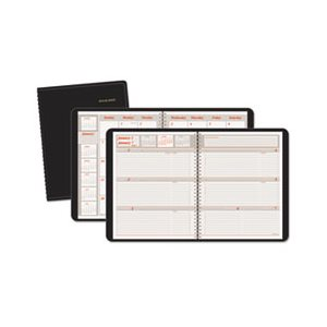 "APPOINTMENT BOOK, WEEKLY / MONTHLY, 6.875"" x 8.75"", BLACK, 2020"
