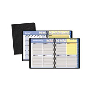 "APPOINTMENT BOOK, QUICKNOTES, WEEKLY / MONTHLY, 8"" x 9.875"", BLACK, 2020"