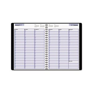 "APPOINTMENT BOOK, WEEKLY, 8"" x 11"", BLACK, 2020"