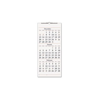 """WALL CALENDAR, THREE-MONTH, REFERENCE, 12"""" x 27"""", 2019-2021"""
