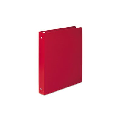 "BINDER, POLY ROUND RING, ACCOHIDE, 35-PT, COVER, 1"" CAPACITY, EXECUTIVE RED"