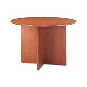 "CONFERENCE TABLE, ALERA VALENCIA SERIES, ROUND w / LEGS, 29.5""h x 42""D, MEDIUM CHERRY"