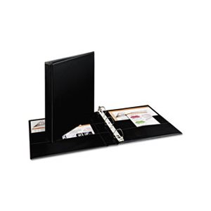 "Durable Binder with Two Booster EZD Rings, 11 x 8 1 / 2, 1"", Black"
