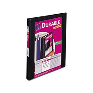 "BINDER, Durable View, w /  Slant Rings, 11"" x 8.5"", .5"" Capacity, Black"