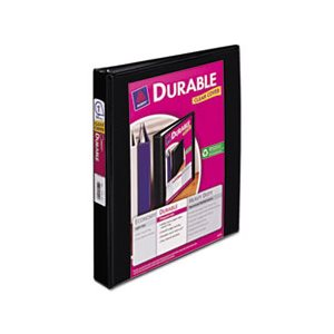 "BINDER, Durable View, w /  Slant Rings, 11"" x 8.5"", 1"" Capacity, Black"