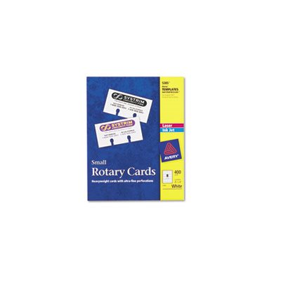 Small Rotary Cards, Laser / Inkjet, 2 1 / 6 x 4, 8 Cards / Sheet, 400 Cards / Box