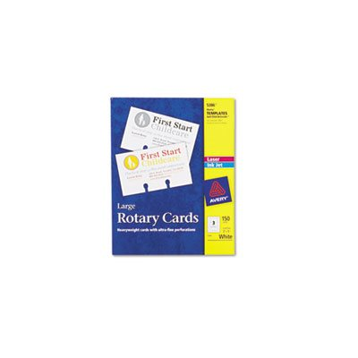 Large Rotary Cards, Laser / Inkjet, 3 x 5, 3 Cards / Sheet, 150 Cards / Box