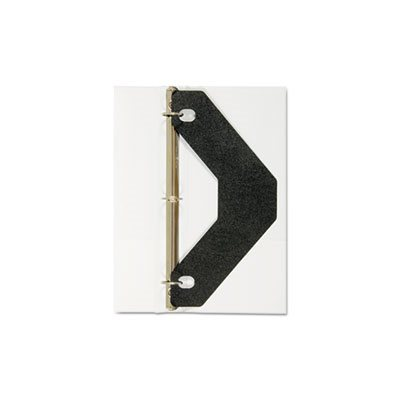 SHEET LIFTER, Triangle Shaped, for Three-Ring Binder, Black, 2 / Pack