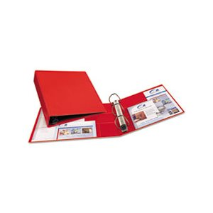 "Heavy-Duty Binder with One Touch EZD Rings, 11 x 8 1 / 2, 2"" Capacity, Red"