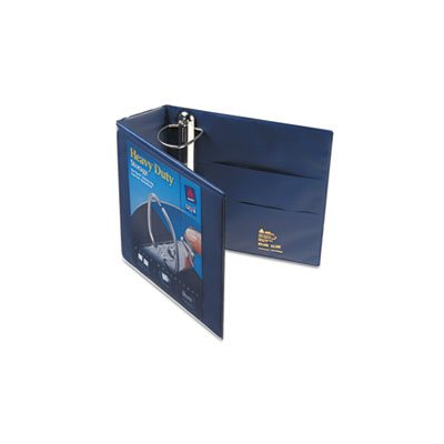 "Heavy-Duty View Binder w / Locking 1-Touch EZD Rings, 4"" Cap, Navy Blue"