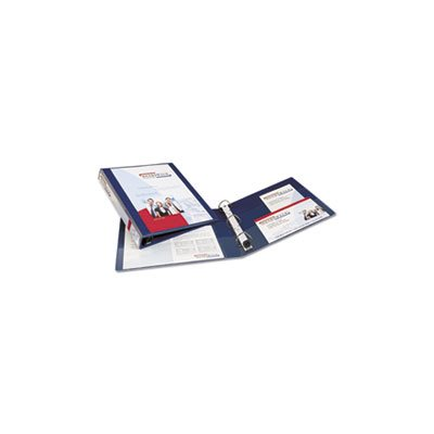 "Heavy-Duty View Binder w / Locking 1-Touch EZD Rings, 1"" Cap, Navy Blue"