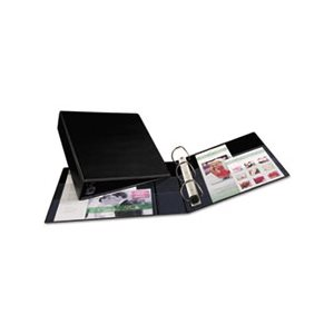 "BINDER, Heavy-Duty, w /  One Touch EZD Rings, 11"" x 8.5"", 2"" Capacity, Black"
