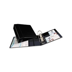 "BINDER, Heavy-Duty, w /  One Touch EZD Rings, 11"" x 8.5"", 4"" Capacity, Black"