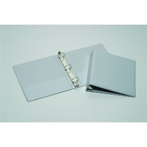 "BINDER, 3-RING, 1.5"", GRAY, VIEW"