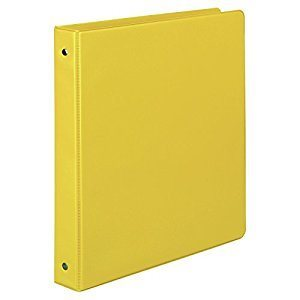 "BINDER, 3-RING, 1"", YELLOW, VIEW"