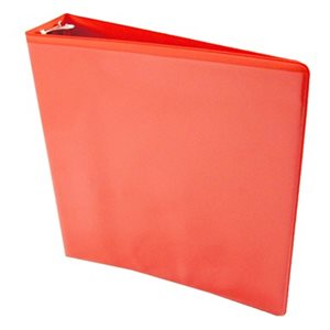 "BINDER, 3-RING, 1"", RED, VIEW"