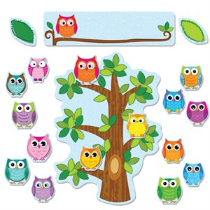 BB SET, COLORFUL OWLS
