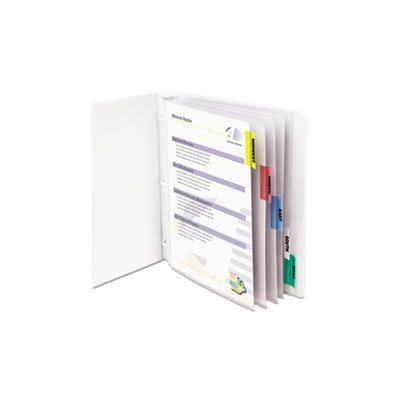 "SHEET PROTECTORS, WITH INDEX TABS, ASSORTED COLOR TABS, 2"", 11"" x 8.5"", 5 / ST"