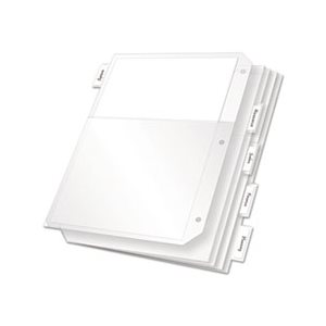 Poly Ring Binder Pockets, 11 x 8 1 / 2, Clear, 5 / Pack