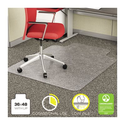ETS MAT, ECONOMAT CHAIR LOW PILE 36X48 W / LIP CLEAR