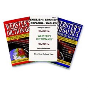 DICTIONARY, WEBSTERS, SPANISH, ENGLISH