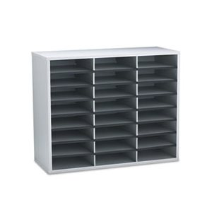 "ORGANIZER, Literature, FELLOWES, 24 Letter Sections, 29"" x 11.875"" x 23.4375"", Dove Gray"