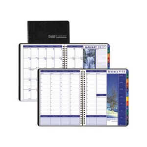 "PLANNER, Recycled, Earthscapes, Weekly / Monthly, 8.5"" x 11"", Black, 2020"