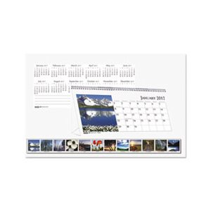 Calendar, Recycled Scenic Photos Desk Tent Monthly, 8 1 / 2 x 4 1 / 2, 2019