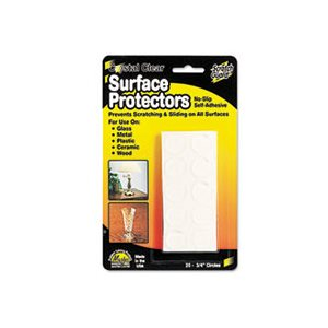 "Scratch Guard Surface Protectors, 3 / 4"" dia, Circular, Clear, 20 / Pack"