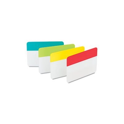 File Tabs, 2 x 1 1 / 2, Aqua / Lime / Red / Yellow, 24 / Pack