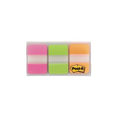 File Tabs, 1 x 1 1 / 2, Assorted Brights, 66 / Pack