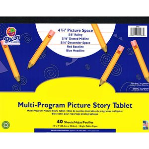PICTURE STORY PAPER 40 SHT 12X9 1 / 2 RULELONG