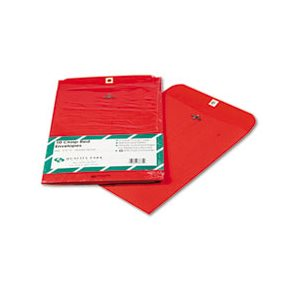 Fashion Color Clasp Envelope, 9 x 12, 28lb, Red, 10 / Pack