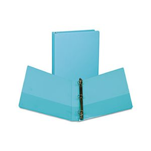 "Fashion View Binder, Round Ring, 11 x 8-1 / 2, 1"" Capacity, Turquoise, 2 / Pack"