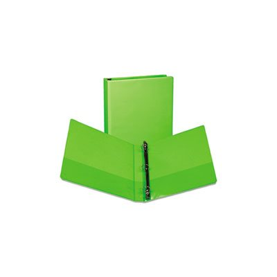 "Fashion View Binder, Round Ring, 11 x 8-1 / 2, 1"" Capacity, Lime, 2 / Pack"