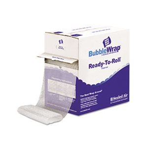 "Bubble Wrap® Cushion Bubble Roll, 1 / 2"" Thick, 12"" x 65ft"