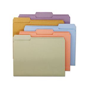 File Folders, 1 / 3 Cut Top Tab, Letter, Assorted Colors, 100 / Box