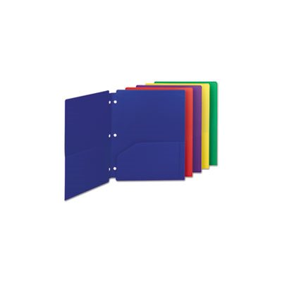 Campus.org Poly Snap-In Two-Pocket Folder, 11 x 8 1 / 2, Assorted, 10 / Pack