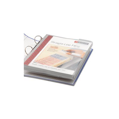Poly Ring Binder Pockets, 9 x 11-1 / 2, Clear, 3 / Pack