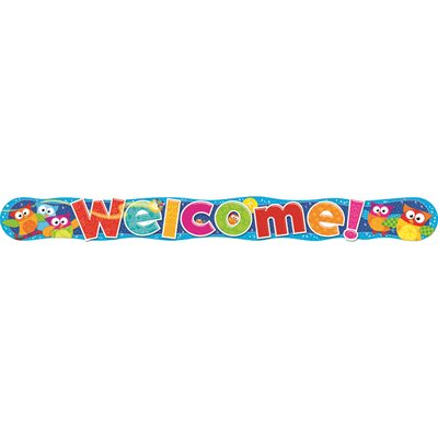 BANNER WELCOME OWL STARS QUOTABLE 10 FT HORIZONTAL