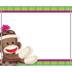 NAME TAGS, SOCK MONKEYS