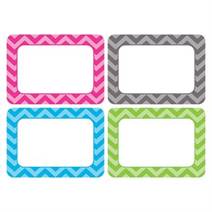 CHEVRON NAME TAGS  /  LABELS - MULTI PACK