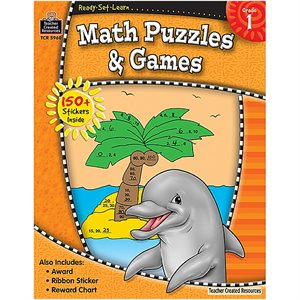 MATH PUZZLES AND GAMES GRD 1