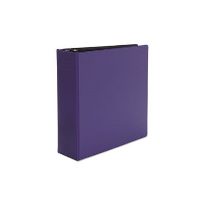 "Economy Non-View Round Ring Binder, 3"" Capacity, Royal Blue"